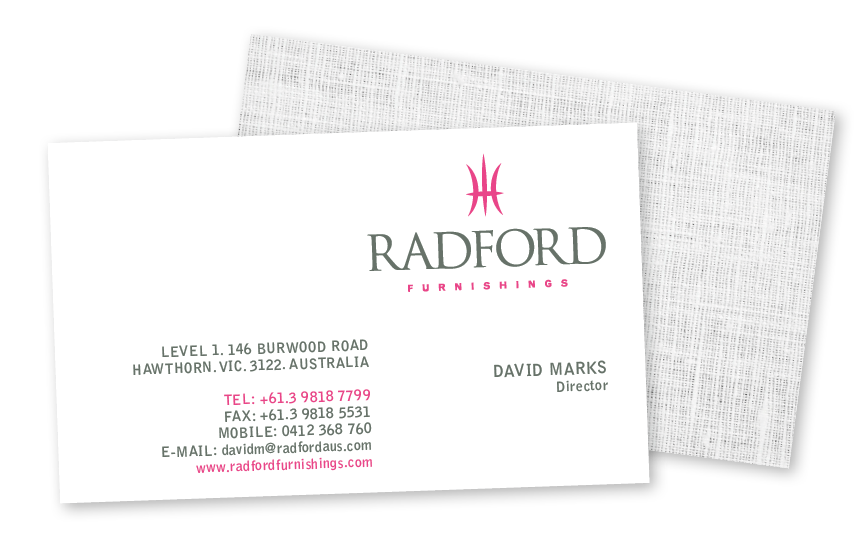 radford business card